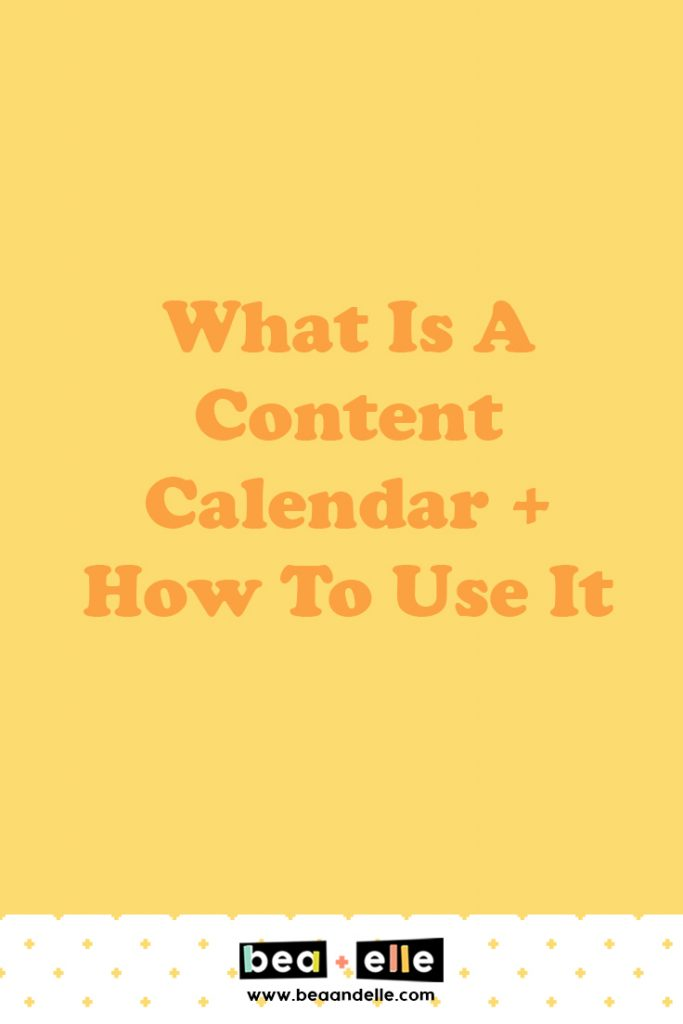 what is a content calendar and how to use it