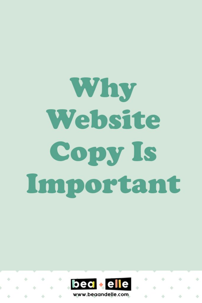 why website copy is important