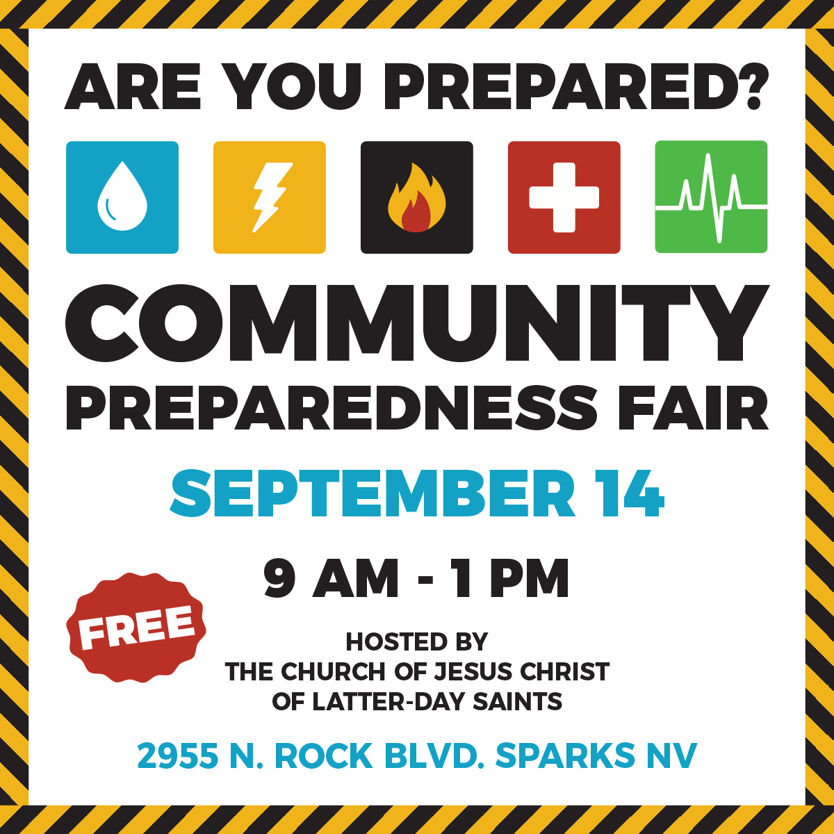 Community Preparedness Fair 2019 Social Media Square