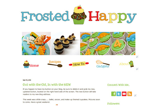 frosted happy web design