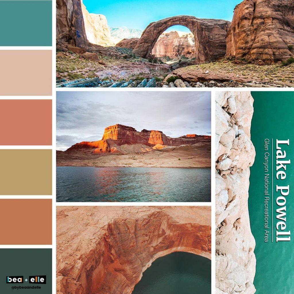 Bea + Elle - Lake Powell Color Palette Collage