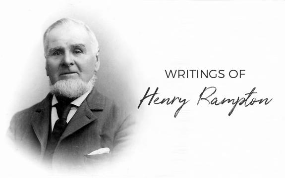 writings of Henry Rampton